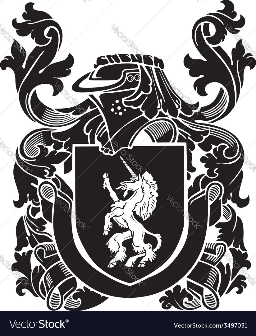 Heraldic silhouette no42 vector | Price: 1 Credit (USD $1)