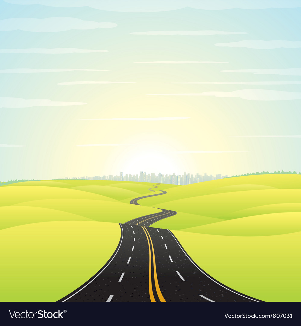 Highway road vector | Price: 1 Credit (USD $1)