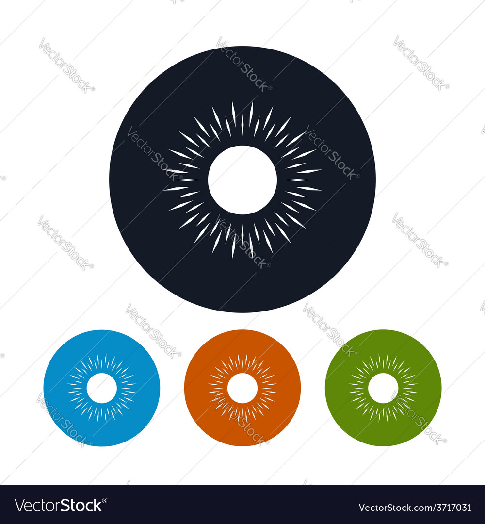 Icon sun with rays vector   Price: 1 Credit (USD $1)