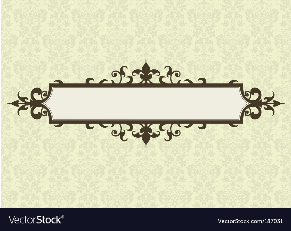 Ornate frame and floral pattern vector | Price: 1 Credit (USD $1)