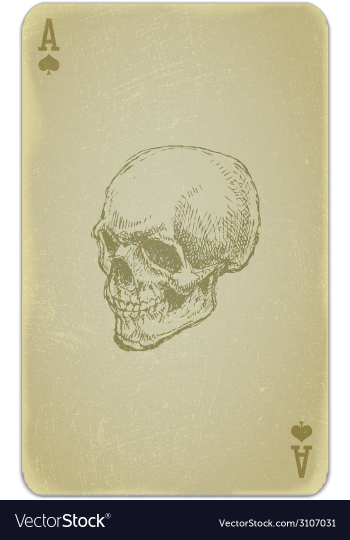 Poker card with skull vector | Price: 1 Credit (USD $1)