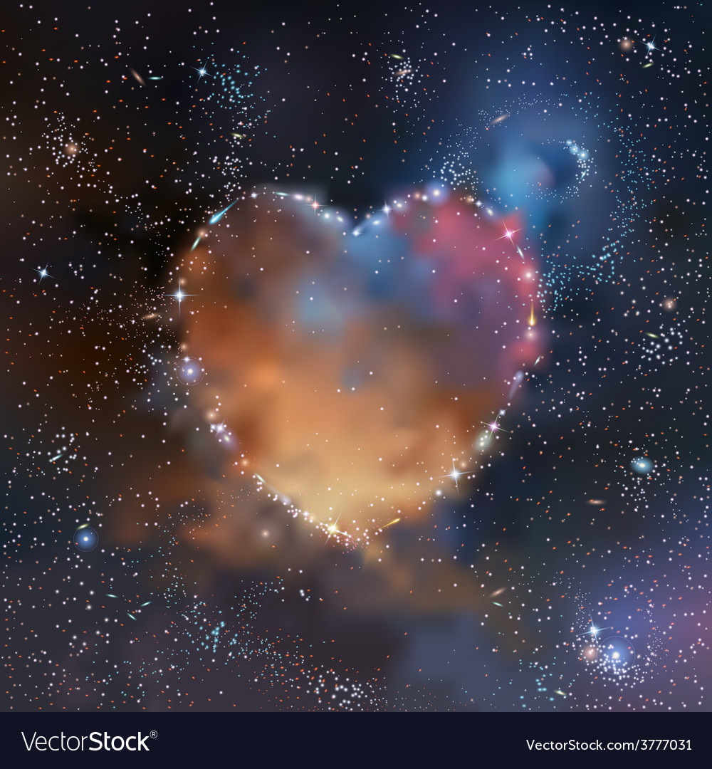 Space heart vector | Price: 1 Credit (USD $1)