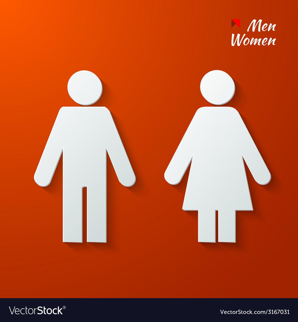 Toilet label vector | Price: 1 Credit (USD $1)