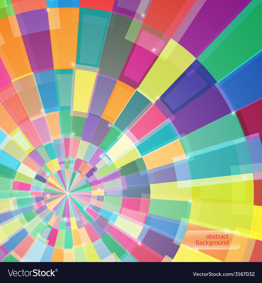 Abstract multicolor circle tunnel vector | Price: 1 Credit (USD $1)