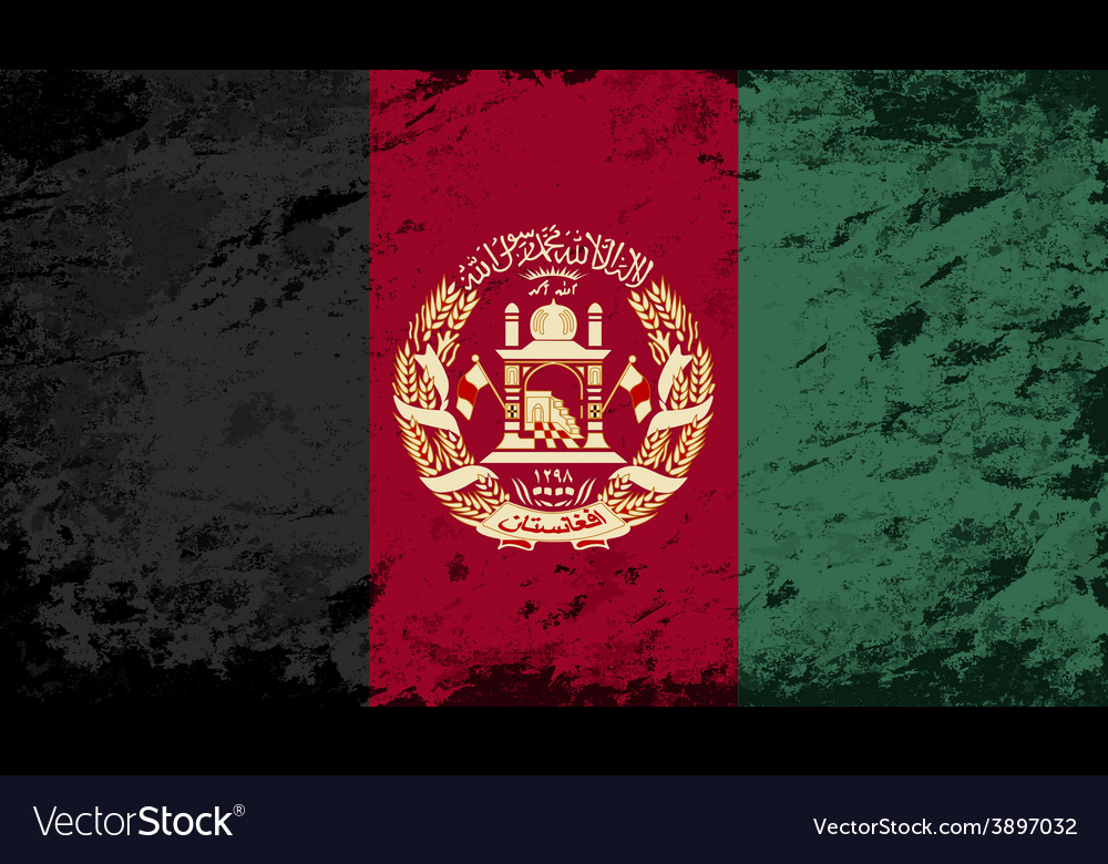 Afghanistan flag grunge background vector | Price: 1 Credit (USD $1)