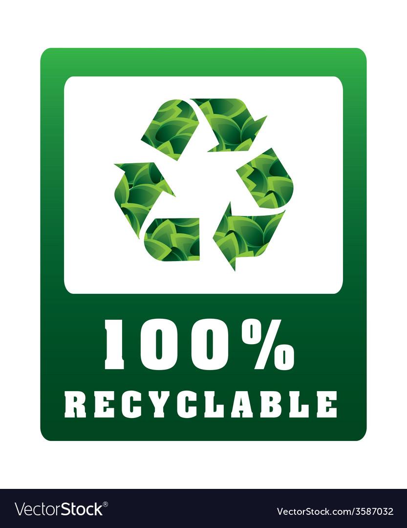 Eco label vector | Price: 1 Credit (USD $1)