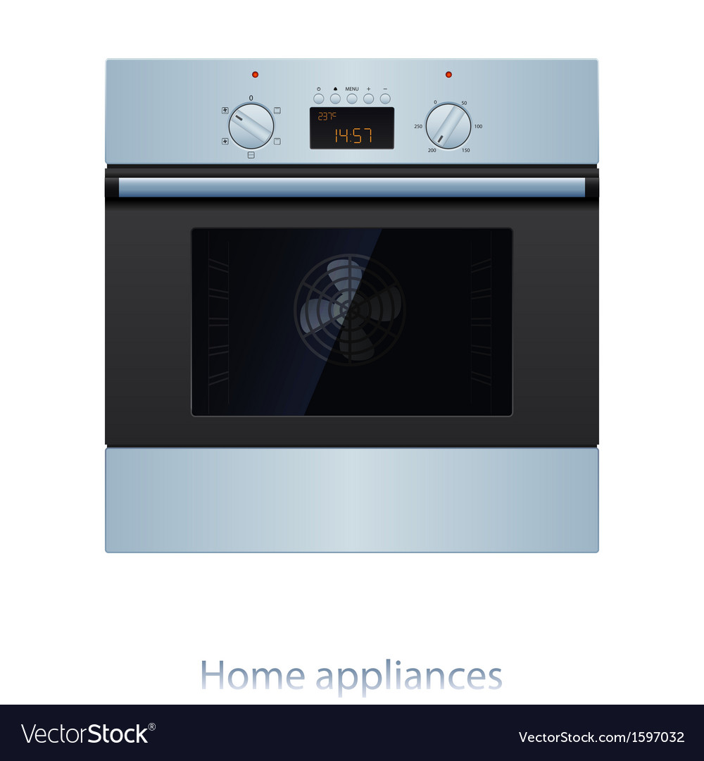 Electric oven vector | Price: 1 Credit (USD $1)