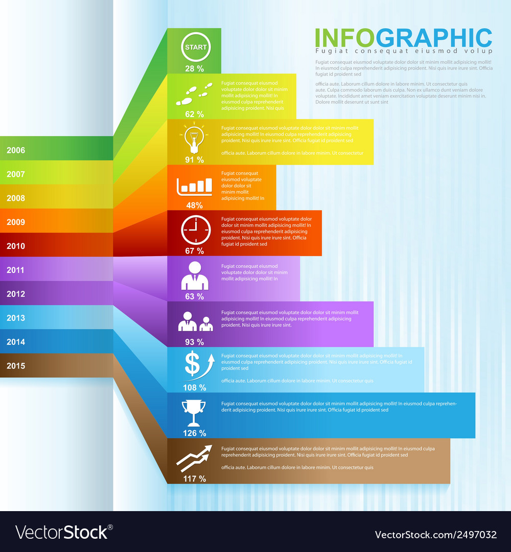 Infographic grow business 02 vector | Price: 1 Credit (USD $1)