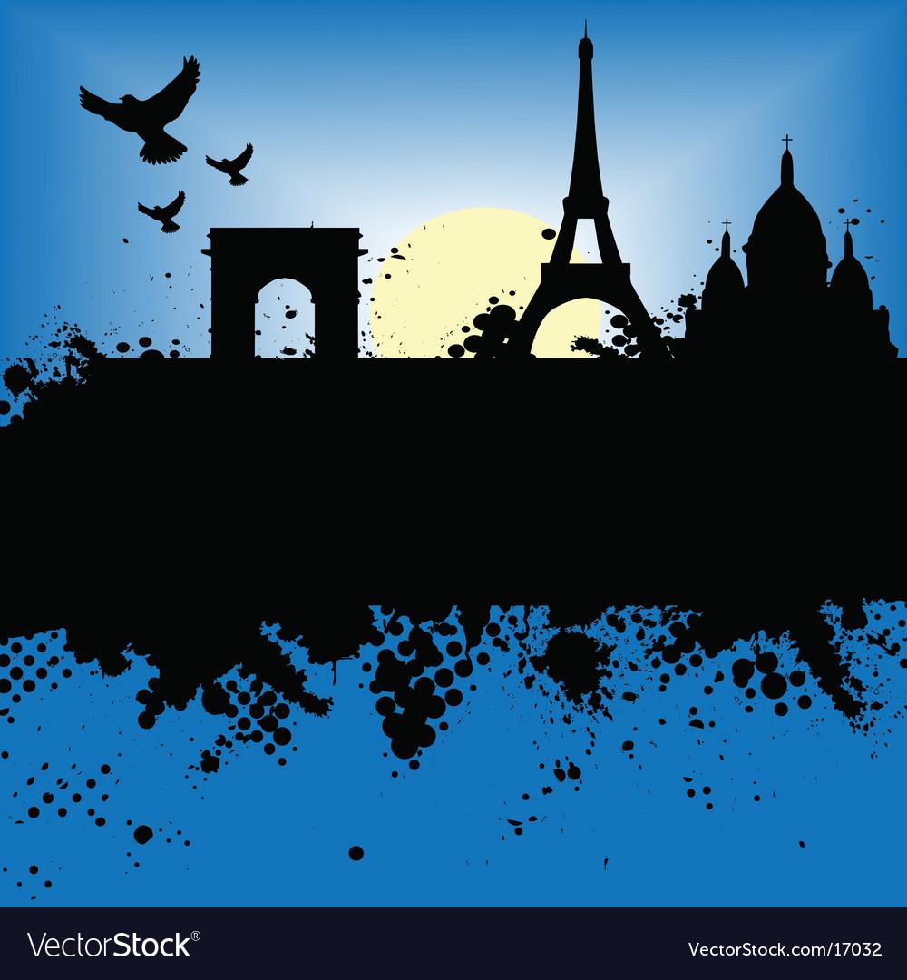 Paris scene vector | Price: 1 Credit (USD $1)