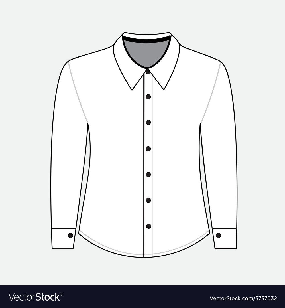 Shirt with long sleeves vector | Price: 1 Credit (USD $1)