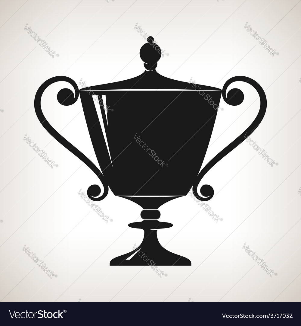 Silhouette cup of winner gold trophy cup vector | Price: 1 Credit (USD $1)