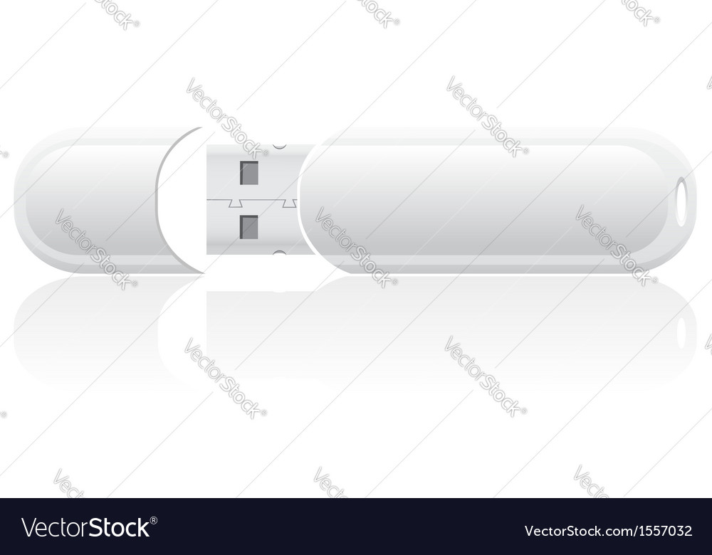 White blank usb flash vector | Price: 1 Credit (USD $1)