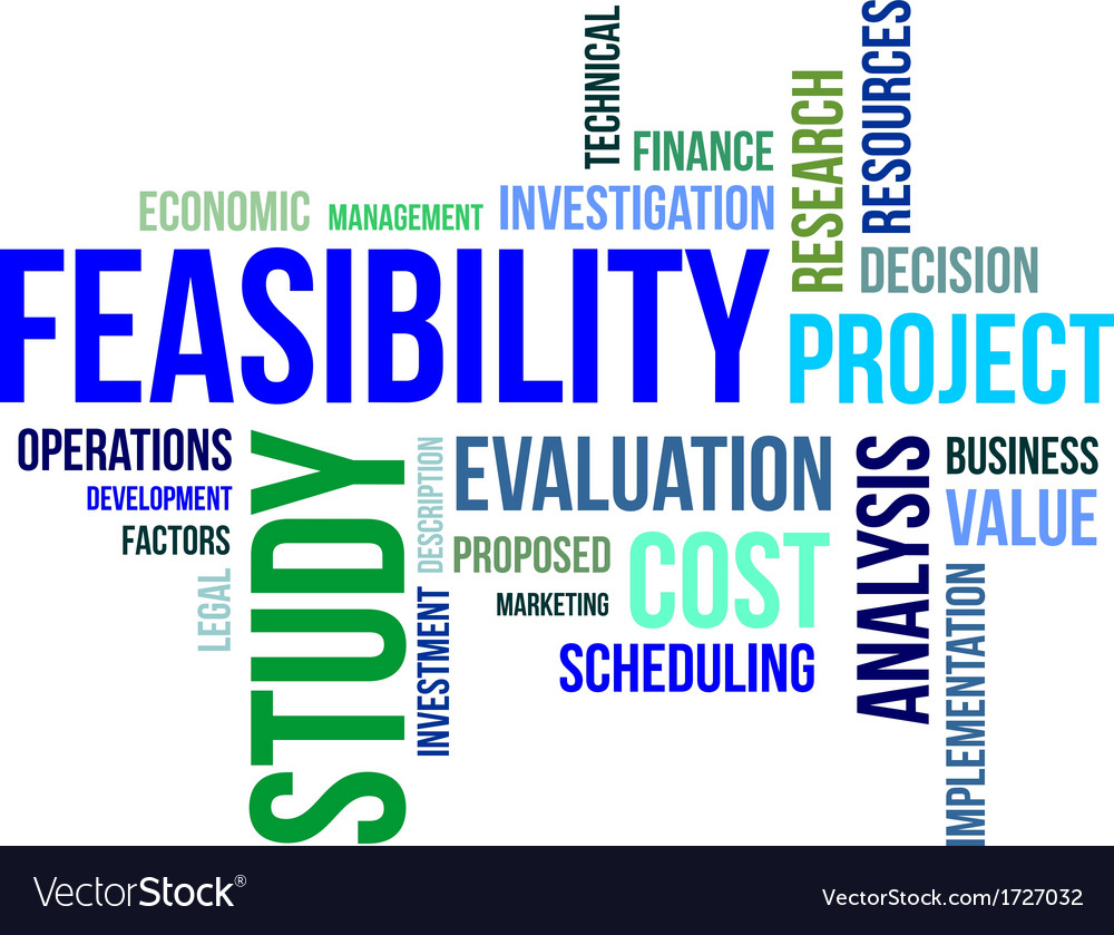 Word cloud feasibility study vector | Price: 1 Credit (USD $1)