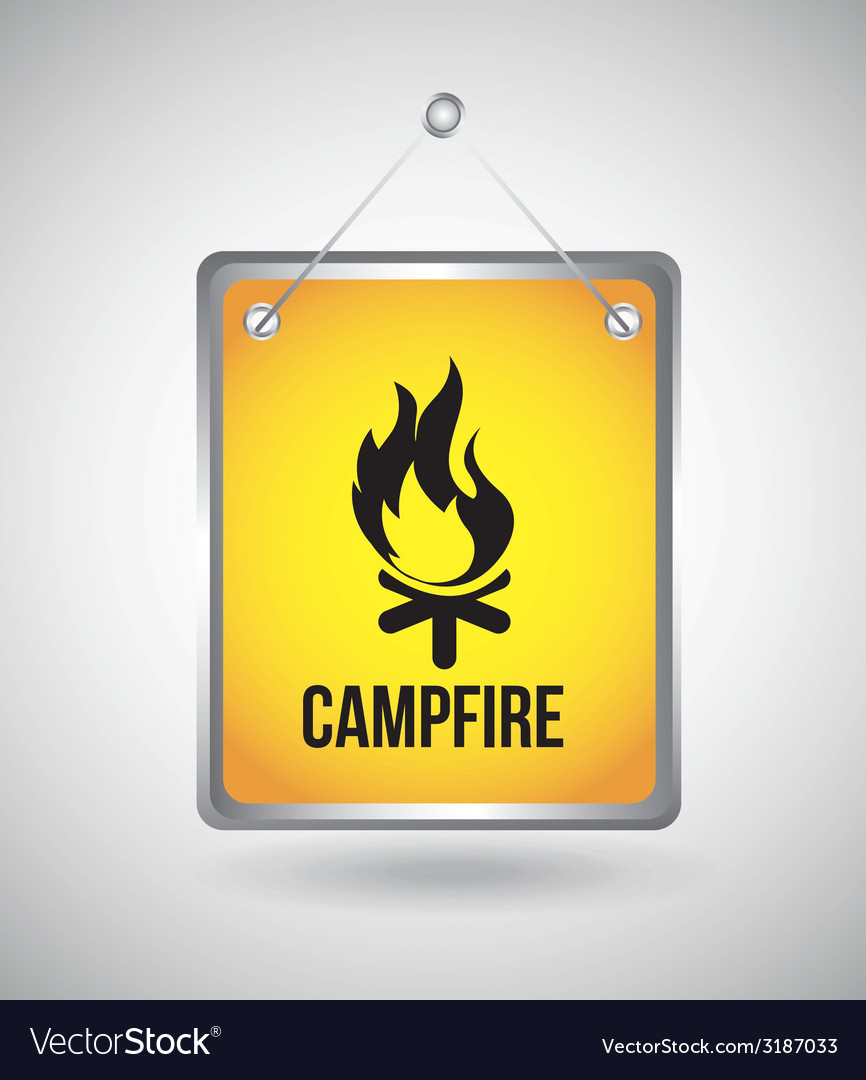 Campfire design vector | Price: 1 Credit (USD $1)
