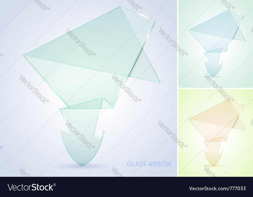 Collect glass arrow vector | Price: 1 Credit (USD $1)