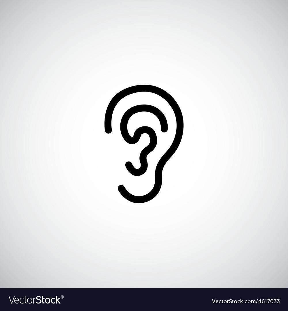 Ear icon vector | Price: 1 Credit (USD $1)