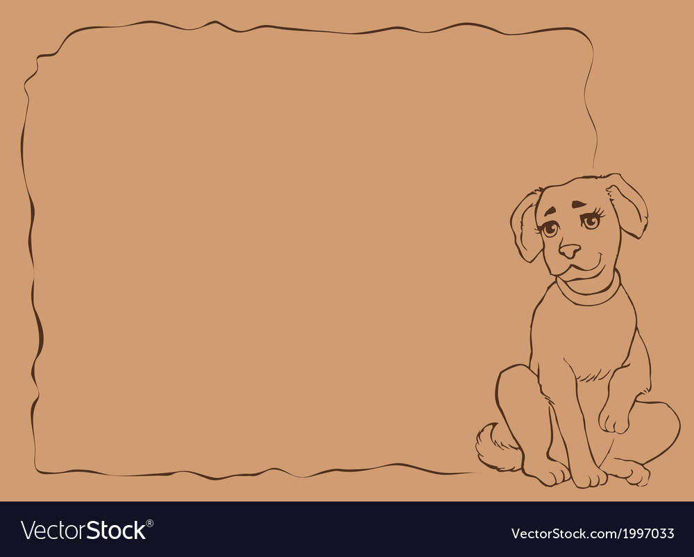 Frame with puppy vector | Price: 1 Credit (USD $1)
