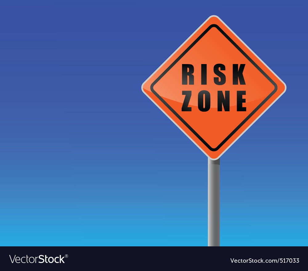 Gn risk zone sky background vector vector | Price: 1 Credit (USD $1)