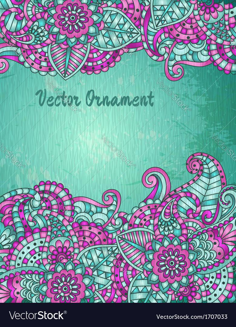 Hand drawn vintage card vector   Price: 1 Credit (USD $1)