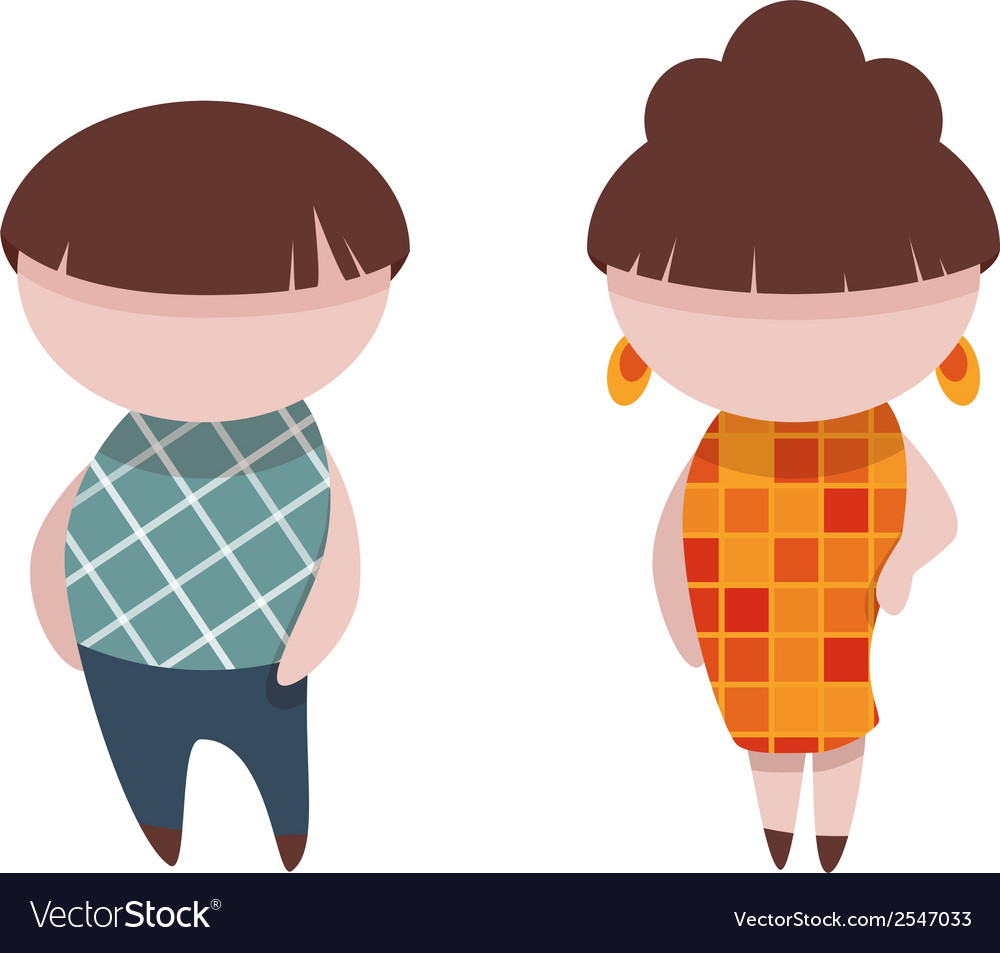 Man and woman in flash style vector | Price: 1 Credit (USD $1)