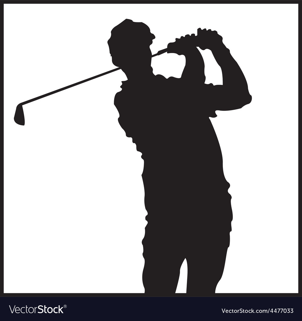 Man playing golf design vector | Price: 1 Credit (USD $1)