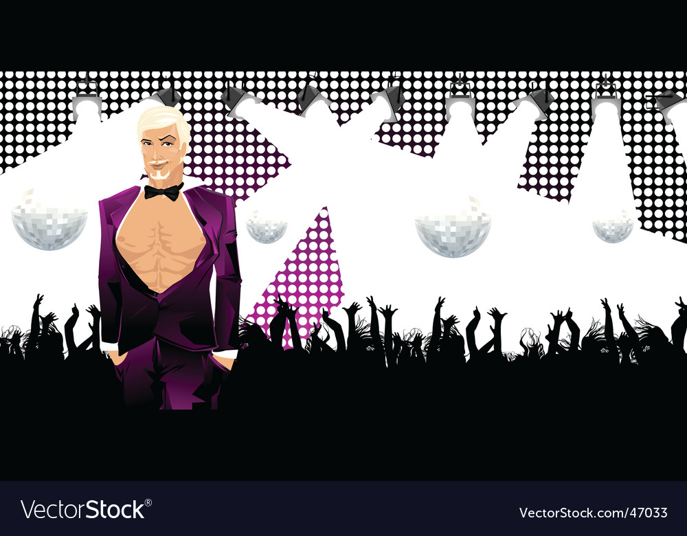 Nightclub guy vector | Price: 3 Credit (USD $3)