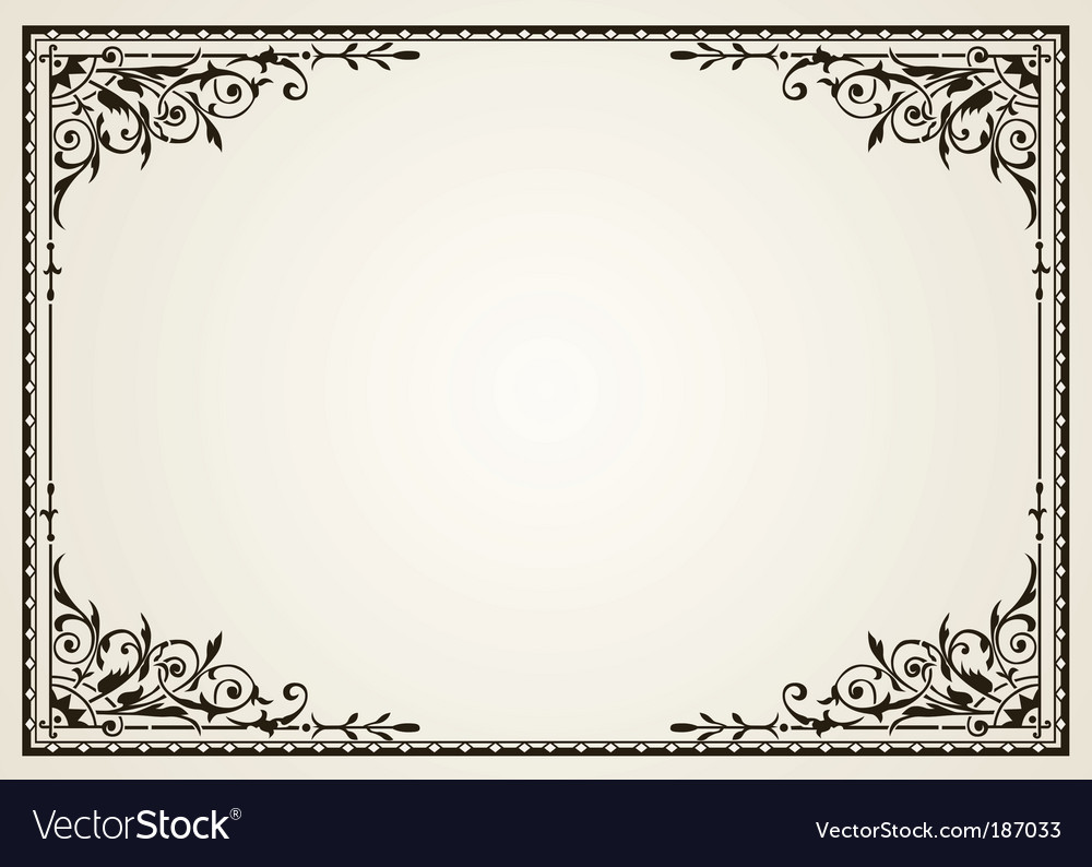 Ornate swirl frames vector | Price: 1 Credit (USD $1)