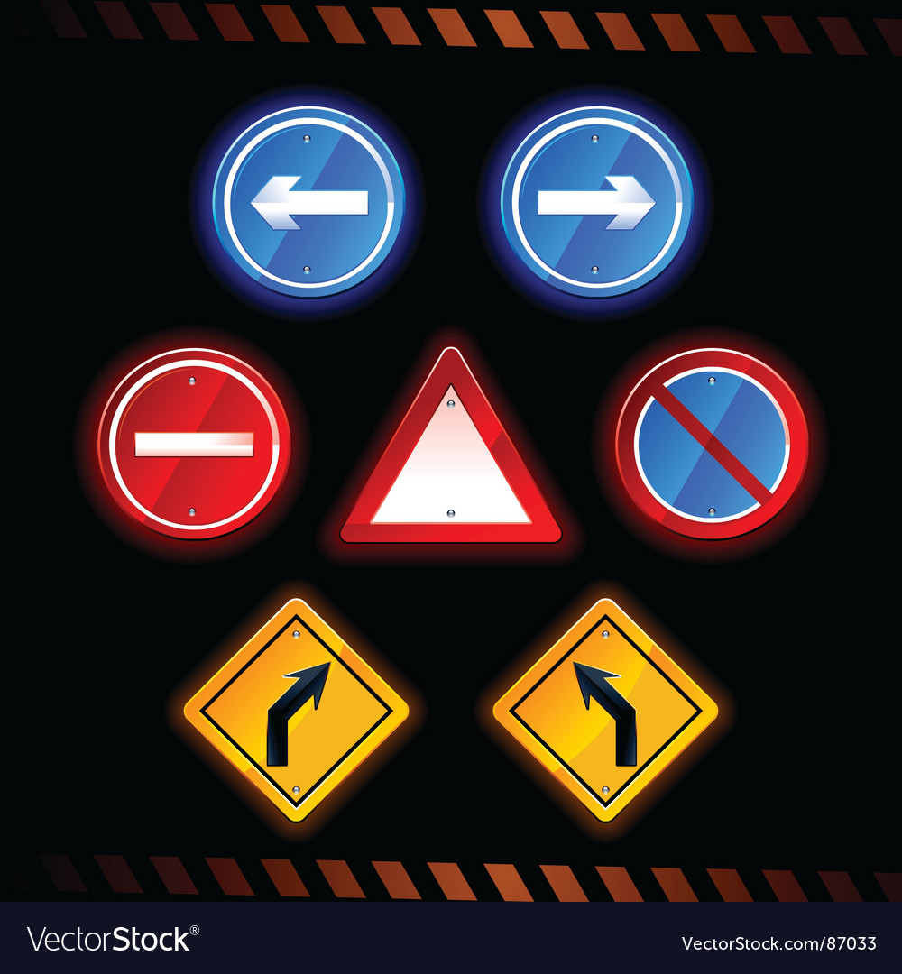 Road signs vector | Price: 3 Credit (USD $3)