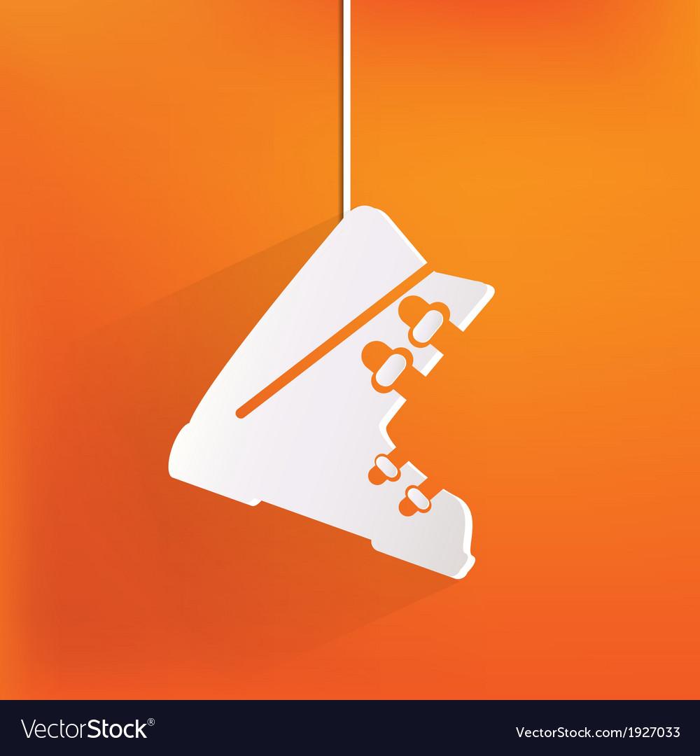 Ski shoes web icon vector | Price: 1 Credit (USD $1)