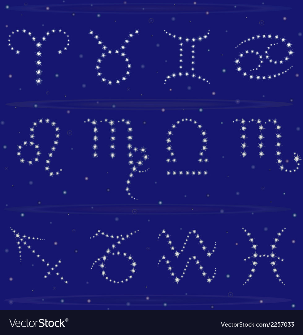 Twelve zodiac signs vector | Price: 1 Credit (USD $1)