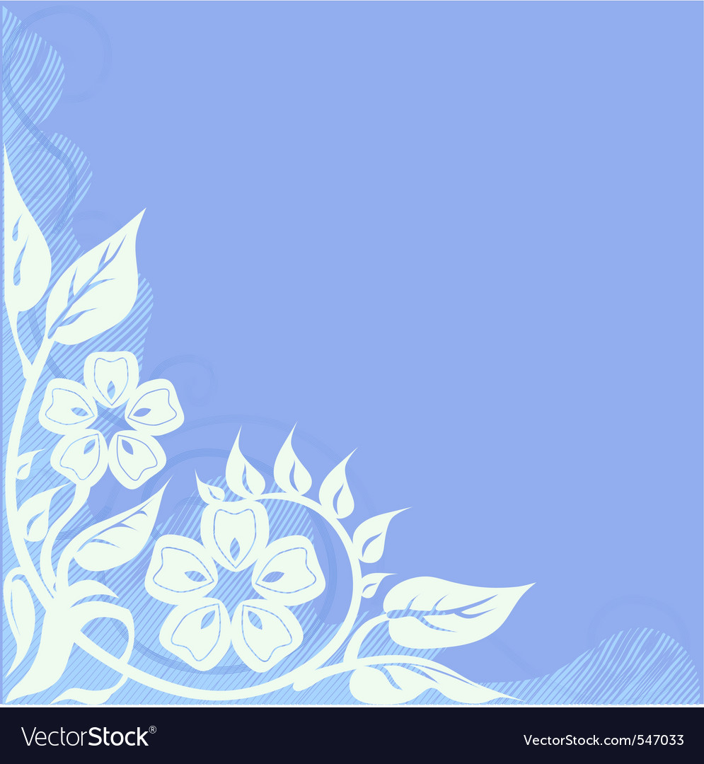 Vignette floral vector | Price: 1 Credit (USD $1)