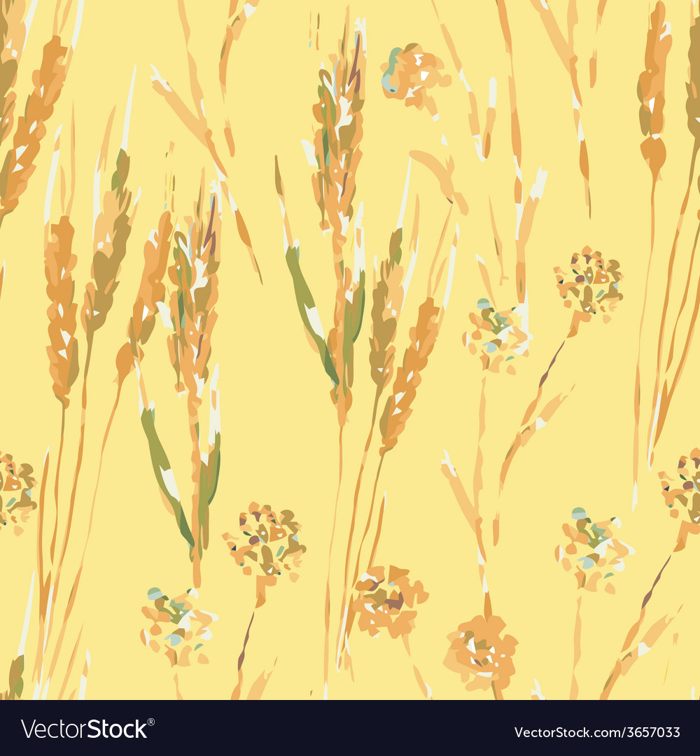 Wheat seamless pattern vector | Price: 1 Credit (USD $1)