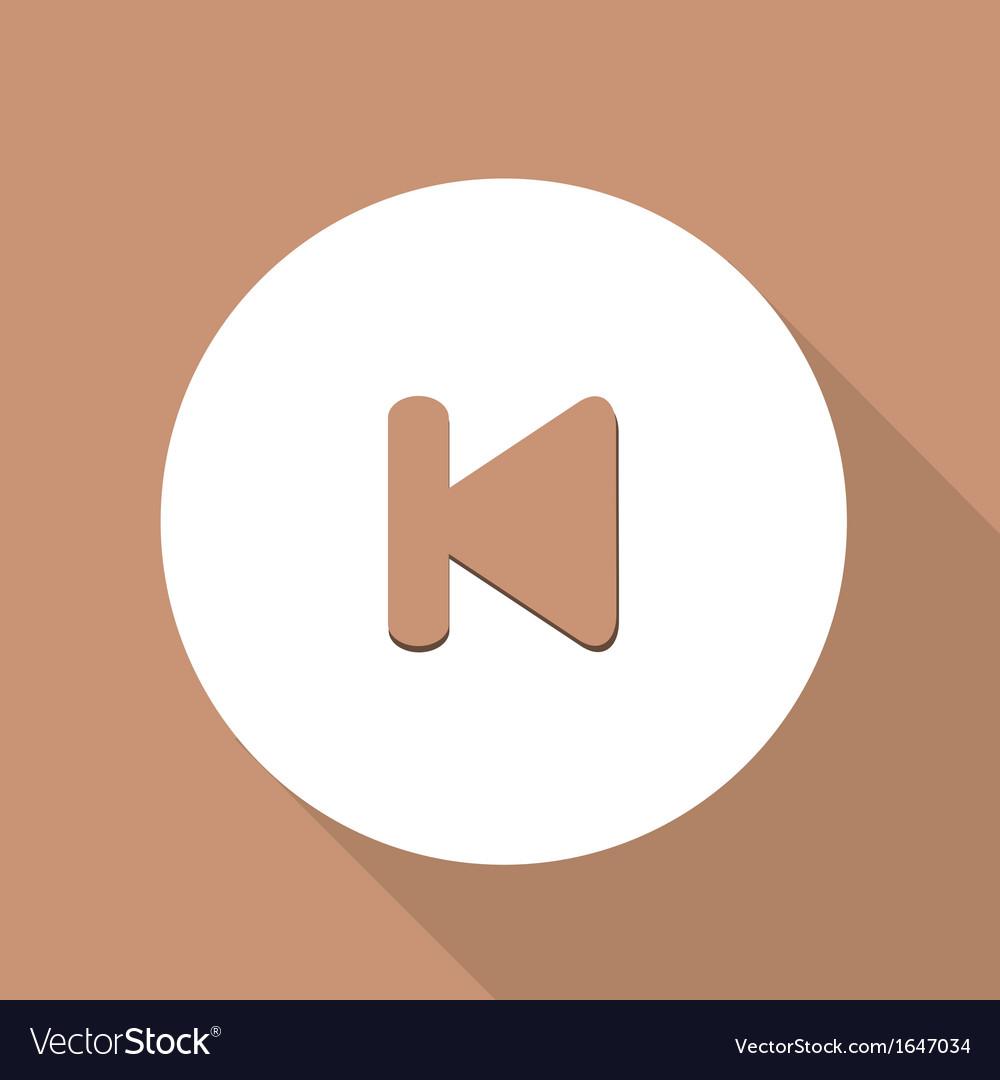 Back track web icon vector | Price: 1 Credit (USD $1)