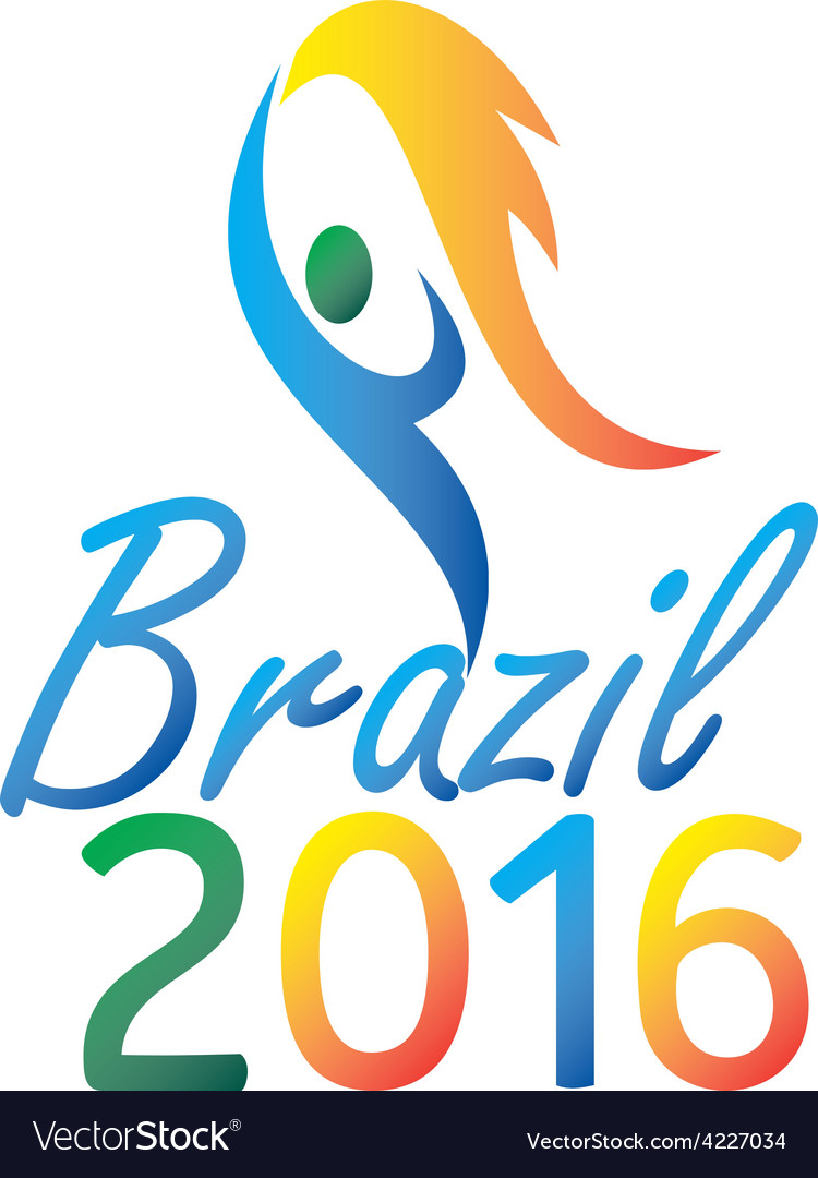 Brasil 2016 summer games flaming torch vector | Price: 1 Credit (USD $1)