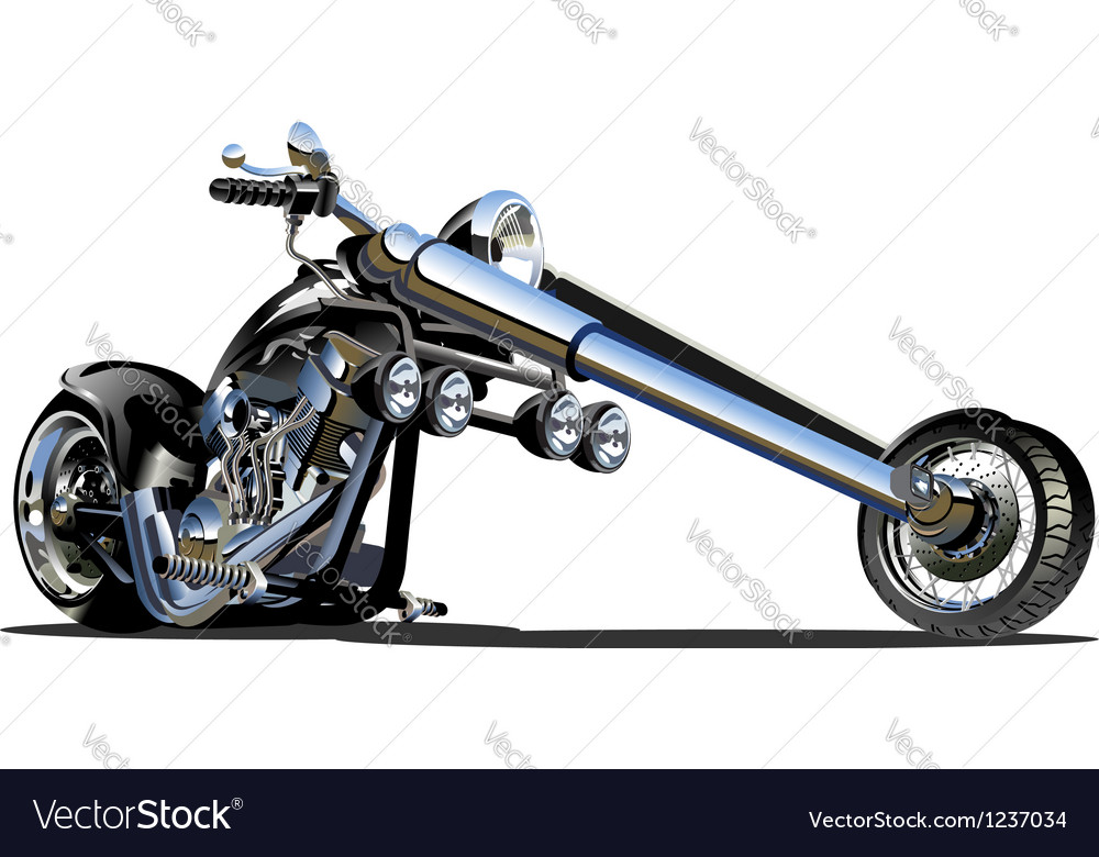 Cartoon motorbike vector | Price: 5 Credit (USD $5)
