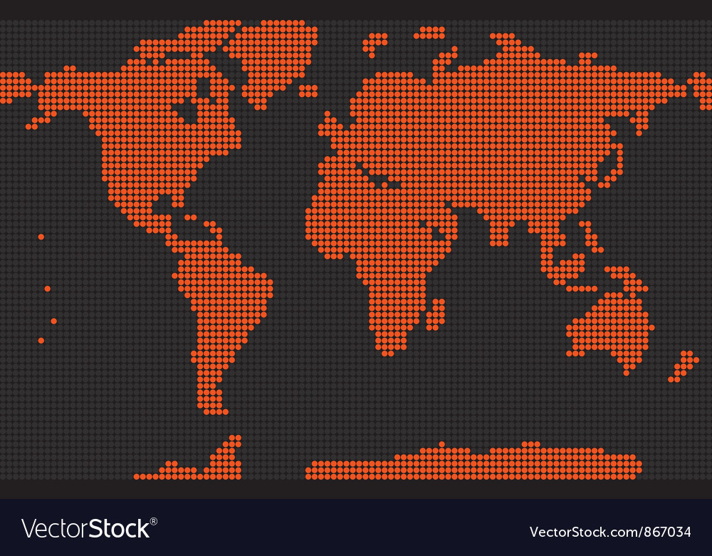 Dotted earth map vector | Price: 1 Credit (USD $1)
