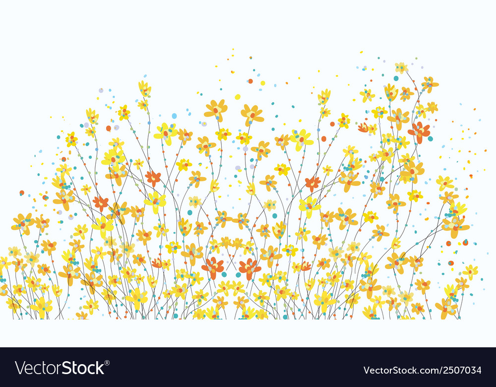 Floral banner with daffodil flowers vector | Price: 1 Credit (USD $1)