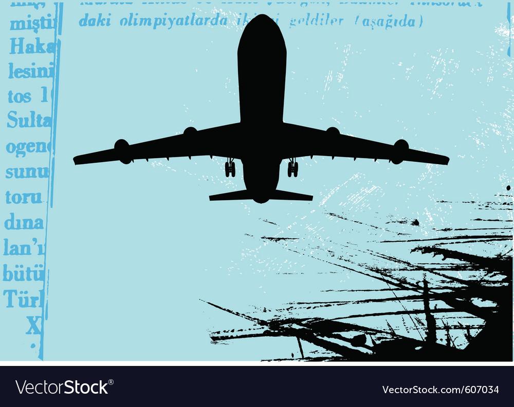 Grunge airplane vector   Price: 1 Credit (USD $1)