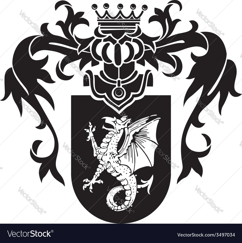 Heraldic silhouette no43 vector | Price: 1 Credit (USD $1)