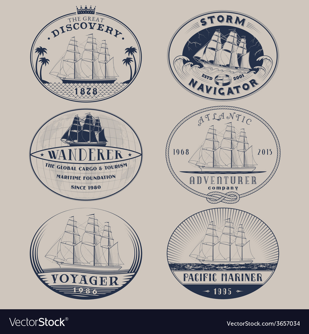 Nautical labels vector | Price: 1 Credit (USD $1)