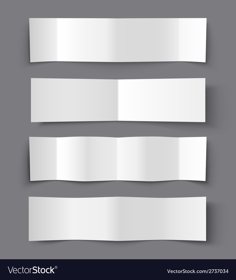 Set of bended paper banners with shadows vector | Price: 1 Credit (USD $1)