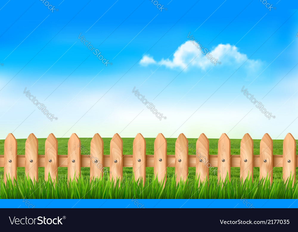 A fence in a field vector | Price: 1 Credit (USD $1)