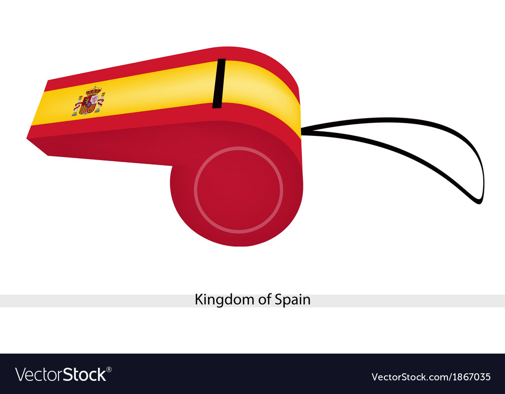 A whistle of the kingdom of spain vector | Price: 1 Credit (USD $1)