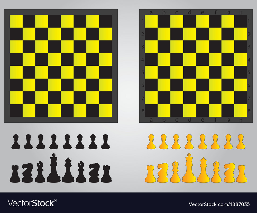 Chess board and pieces vector | Price: 1 Credit (USD $1)