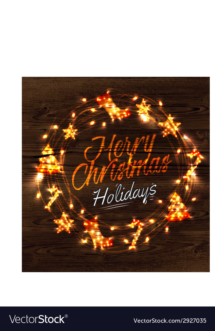Christmas wreath garland poster vector   Price: 1 Credit (USD $1)