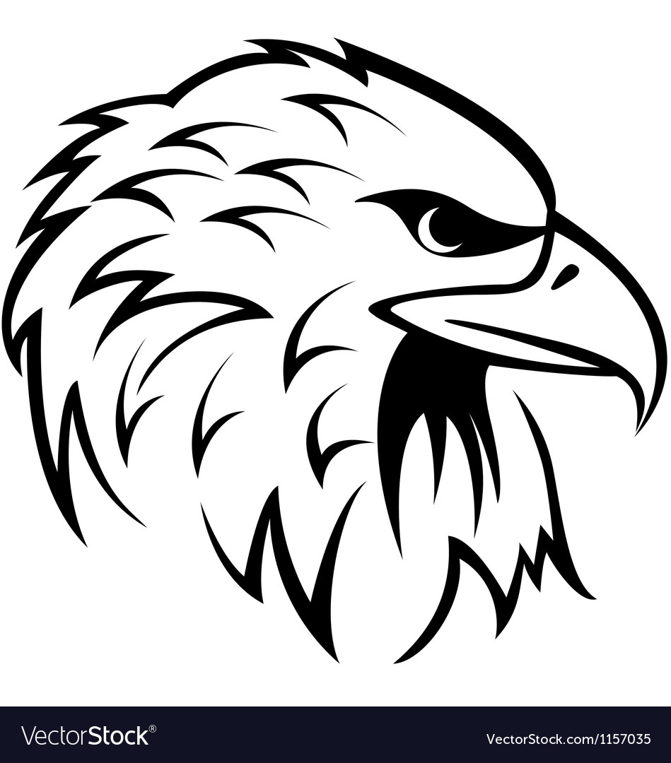 Eagle head tattoo vector | Price: 1 Credit (USD $1)