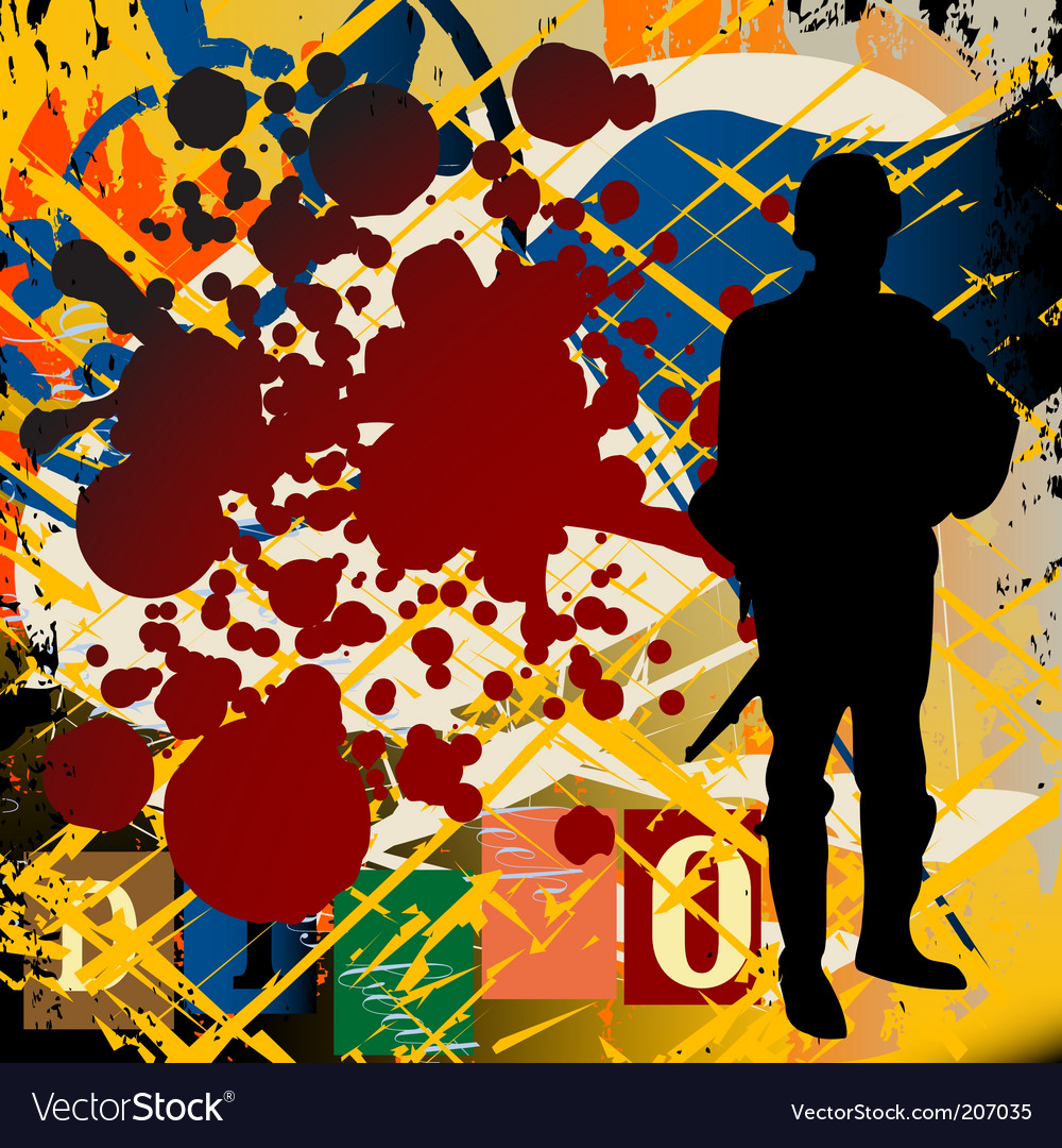 Grunge war background vector   Price: 1 Credit (USD $1)