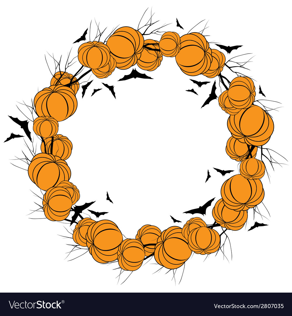 Halloween wreath 4 vector | Price: 1 Credit (USD $1)