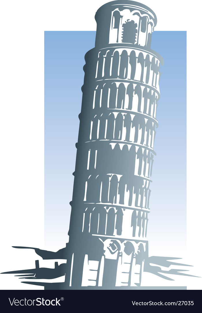 Leaning tower of pisa vector | Price: 1 Credit (USD $1)