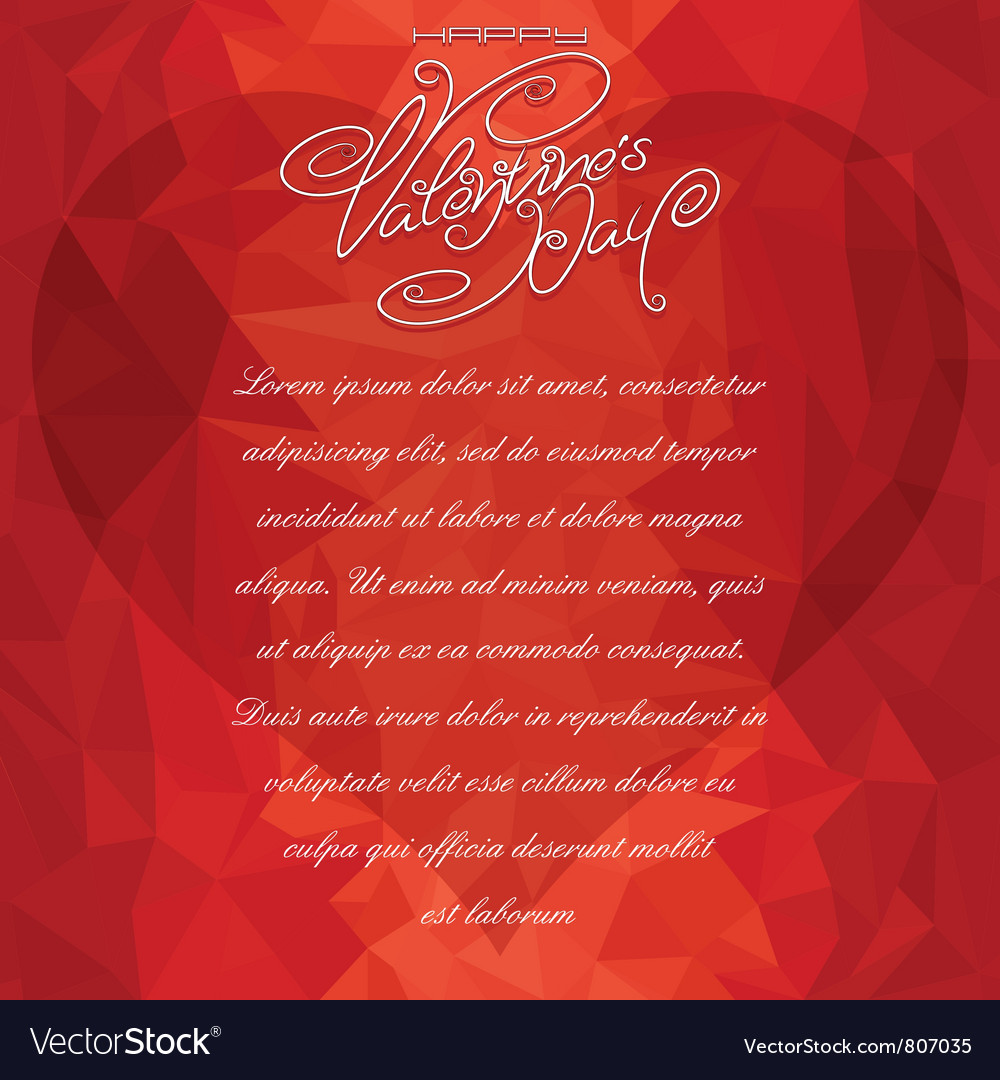 Valentine card backdrop vector | Price: 1 Credit (USD $1)